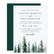 Timber Grove wedding invitations