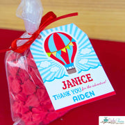 Red Blue Hot Air Balloon Birthday Party Package