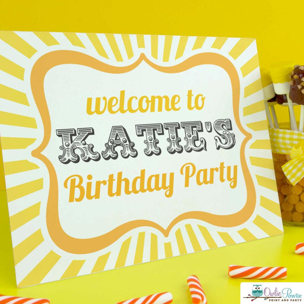 My Sunshine Birthday Party Package