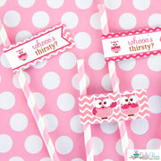 Pink Hoot Owl Birthday Party Package