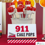 Fire Engine Birthday Party Package