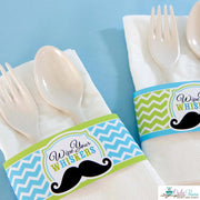 Lime Green Mustache Bash Birthday Party Package