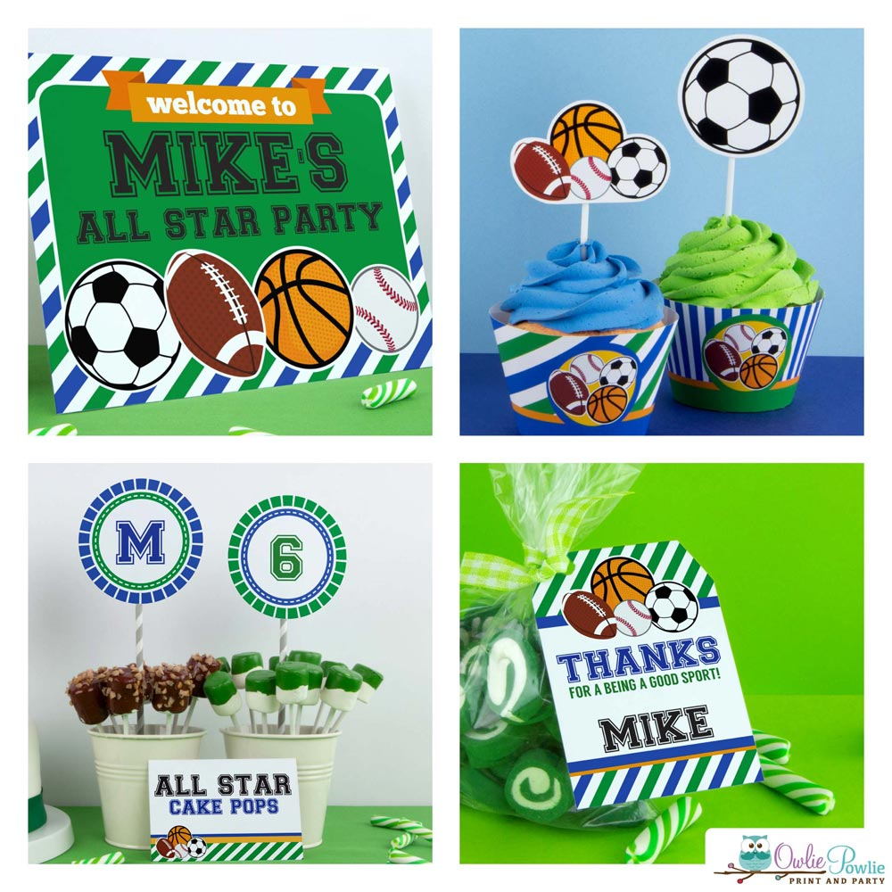 Awe Inspiring All Star Sport Birthday Party Package Owliepowlie Funny Birthday Cards Online Bapapcheapnameinfo
