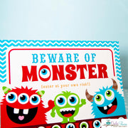 Blue Red Monster Bash Birthday Party Package