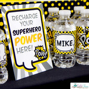 Black Superhero Birthday Party Package