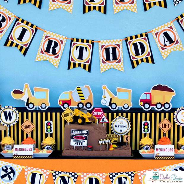 Construction Birthday Party Package