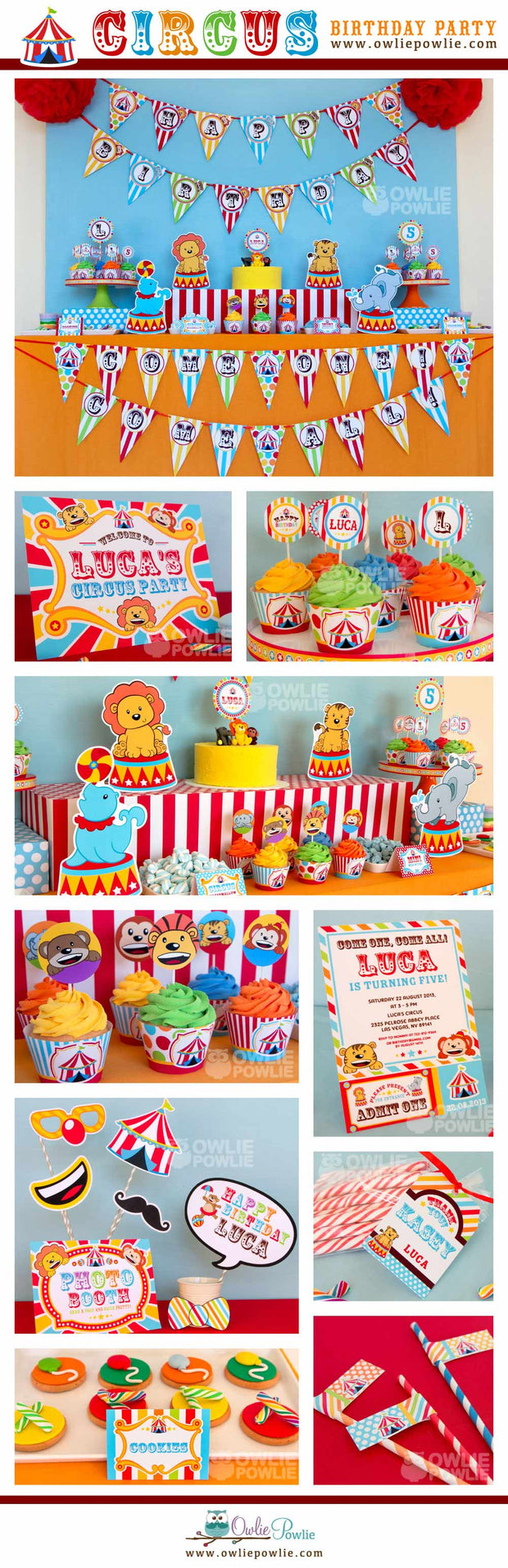 Vintage Circus Birthday Party Package