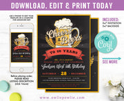 Cheers & Beers Birthday Invitation Party Printable Template