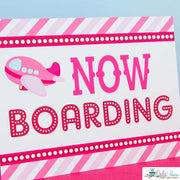 Pink Airplane Birthday Party Package