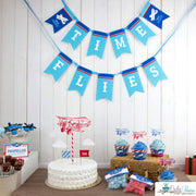 Vintage Airplane Birthday Party Package