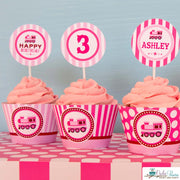 Pink Choo Choo Train Birthday Party Package