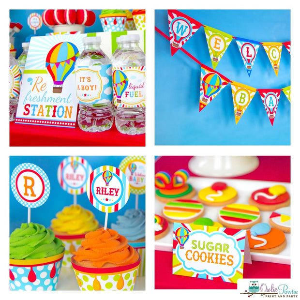 Hot Air Balloon Baby Shower Party Package