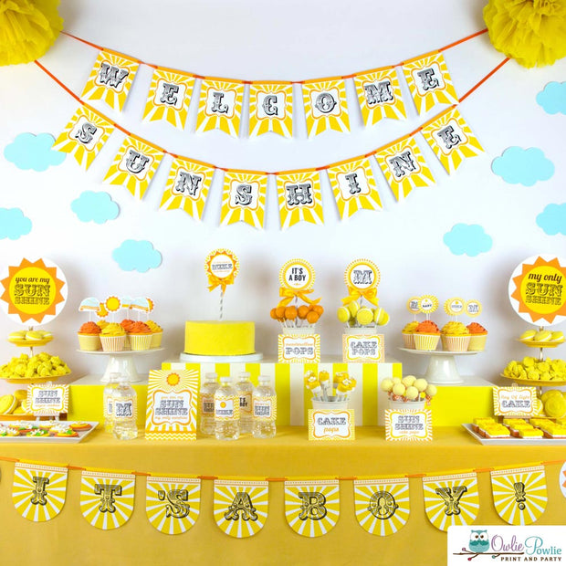 My Sunshine Baby Shower Party Package