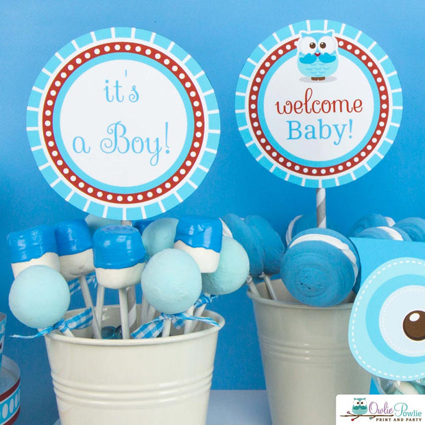 Hoot Owl Baby Shower Party Package
