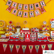 Fire Engine Baby Shower Party Package
