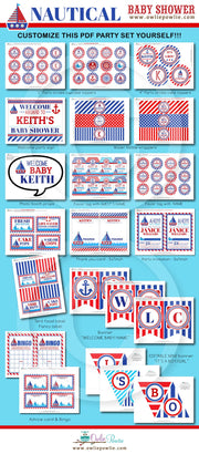 Nautical Baby Shower Party Package