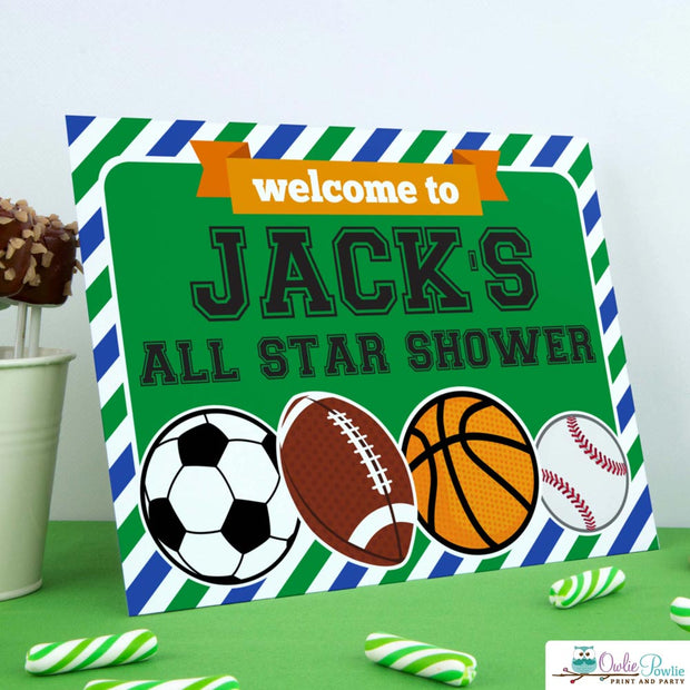All Star Sport Baby Shower Party Package