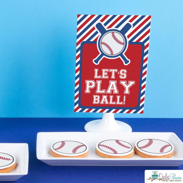 Baseball Baby Shower Party Package