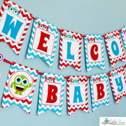 Blue Red Monster Bash Baby Shower Party Package