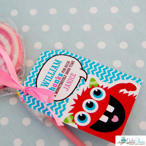 Pink Monster Bash Baby Shower Party Package
