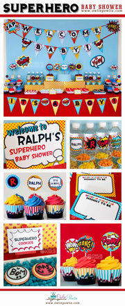 Superhero Baby Shower Party Package