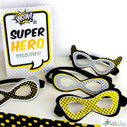 Black Superhero Baby Shower Party Package