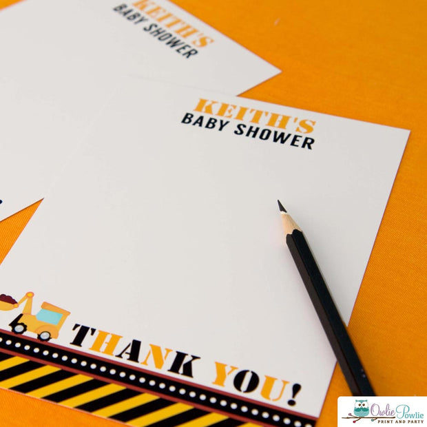 Construction Baby Shower Party Package