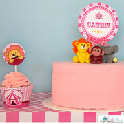 Pink Vintage Circus Baby Shower Party Package