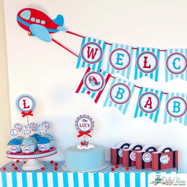 Airplane Baby Shower Party Package
