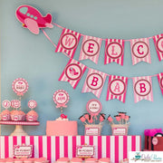 Pink Airplane Baby Shower Party Package