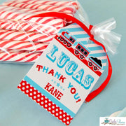 Blue Red Choo Choo Train Baby Shower Party Package