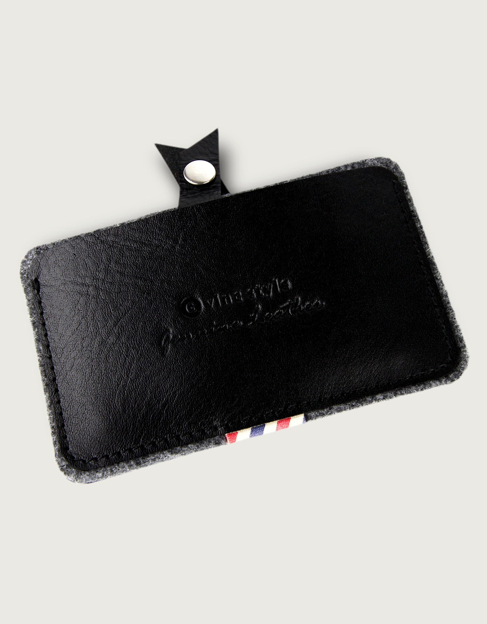 Leather Card Cover Ver.3 - Black