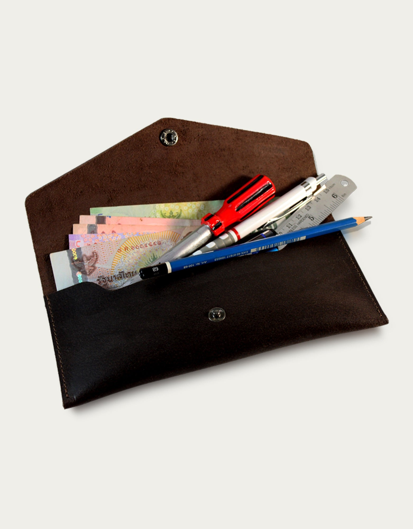 Semolina Pencil Case - Dark Brown