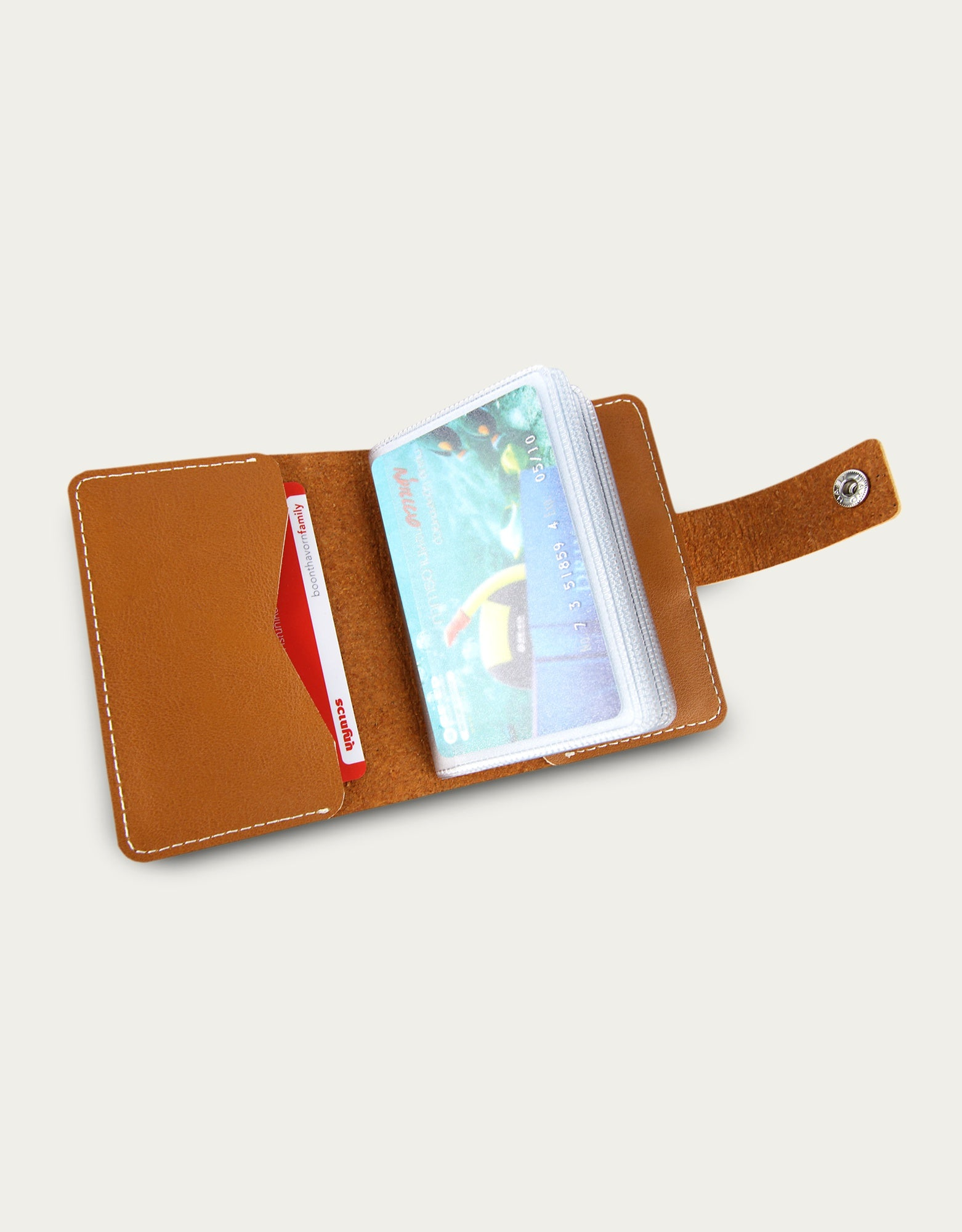 Bifold Card Book Holder - Beige