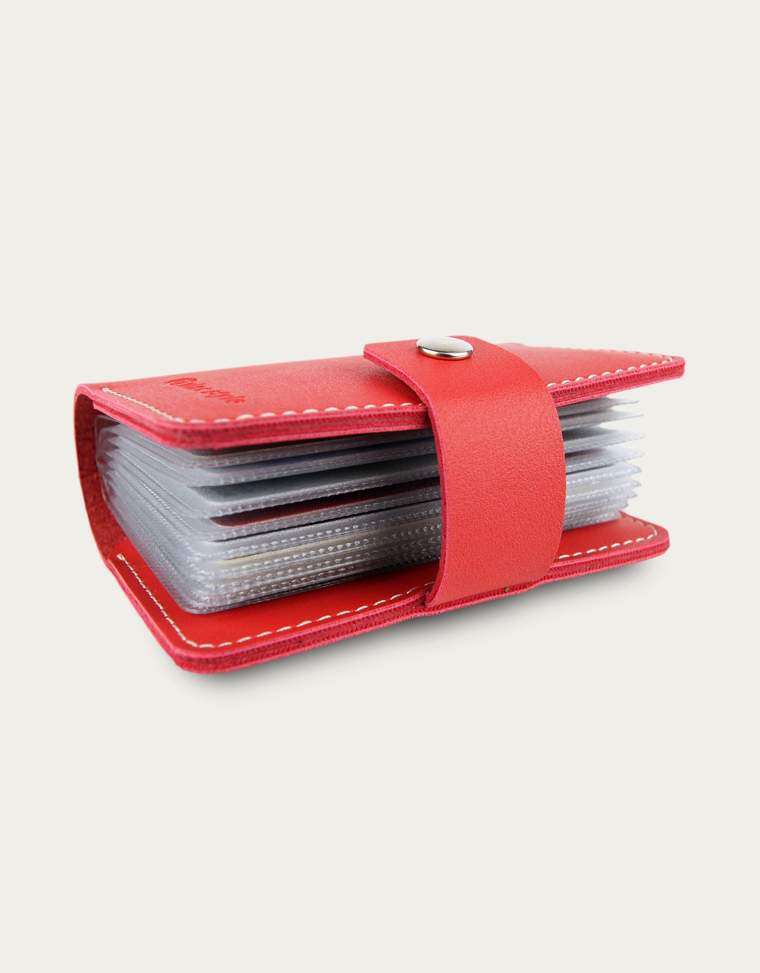 Bifold Card Book Holder - Red