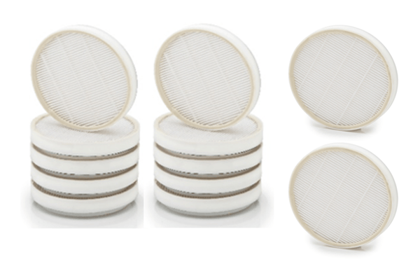 12 piece set of Teflon coated washable pleated filter encased in a light weight ABS Frame