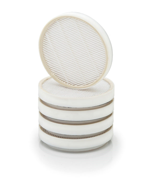 5 piece set of teflon coated washable pleated filter encased in a light weight ABS Frame