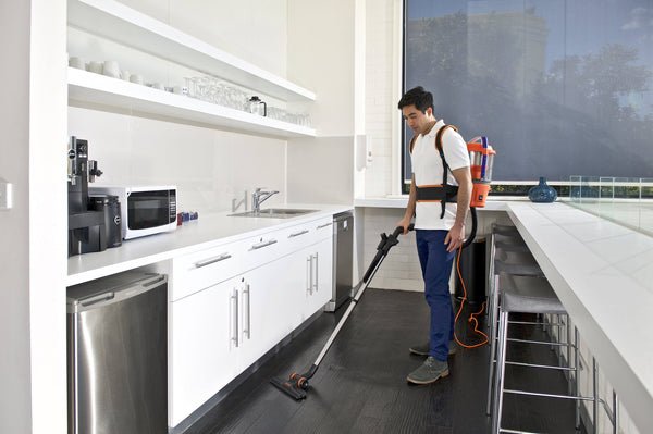 EZ2GO cleaning commercial kitchen tiles