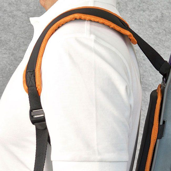 Close up of the shoulder pads -  Rugged Industries Backpack Vacuum Cleaner