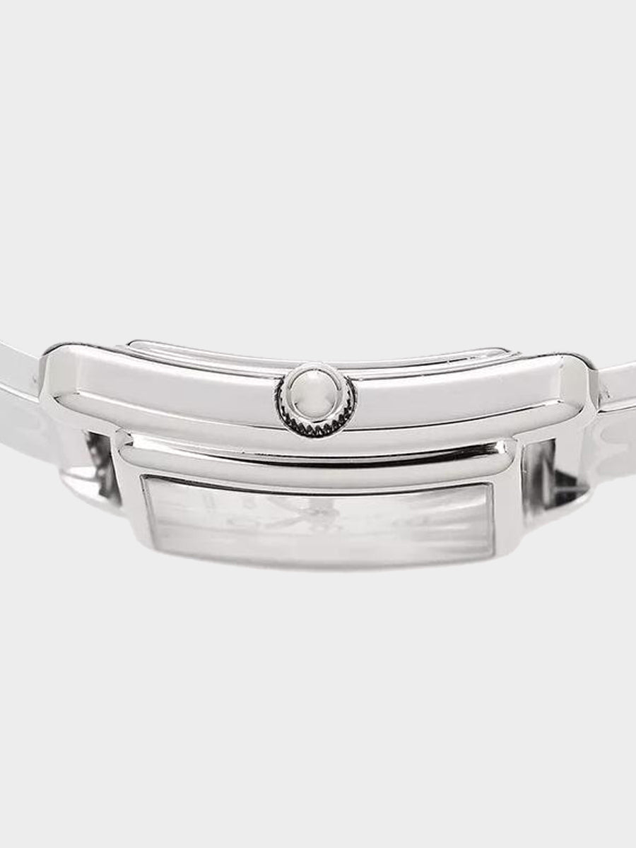 Coach Signature Silver Stainless Bangle Watch