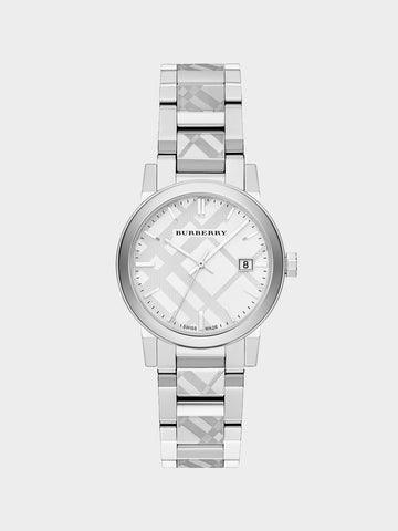 Burberry Silver Dial Calendar Watch