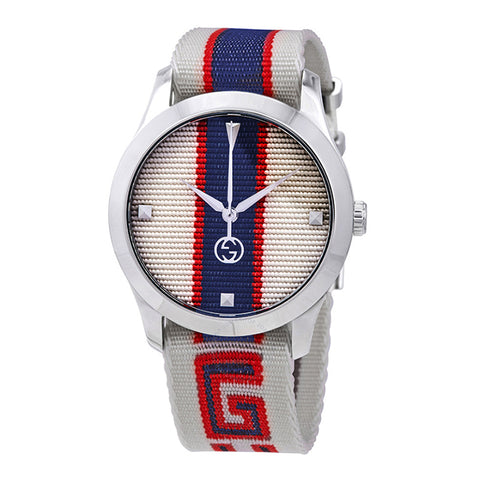 GUCCI G-Timeless White/Red/Blue Dial Men's Watch