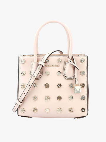 Women's Flower-embellished Shoulder Bag