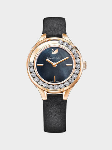 Women's Lovely Crystals Black  Watch