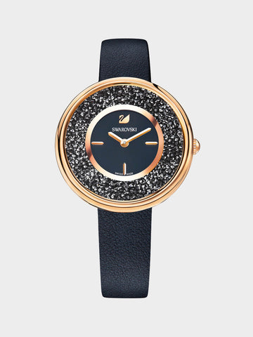 Women's  Crystalline  Pure  Black  Watch