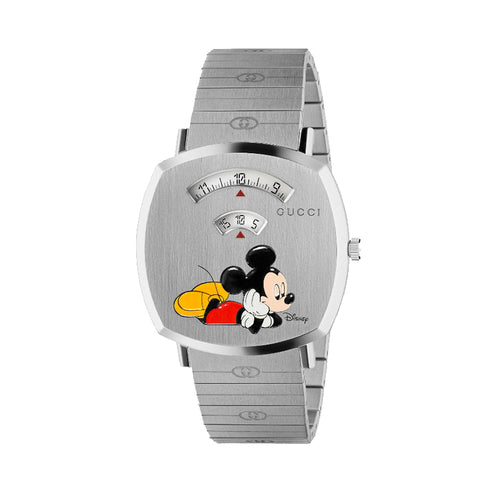 GUCCI Disney x Gucci Grip Mickey Mouse Watch Men and Women Quartz Mickey Couple Watch