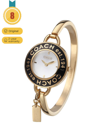 Coach Women's Delancey Gold Dial Rose Gold-tone Watch