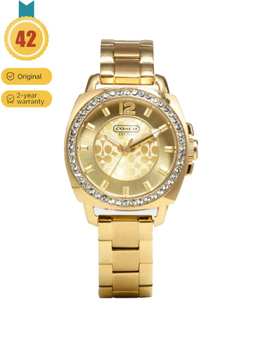 Coach Classic Ladies Gold Fashion Watch