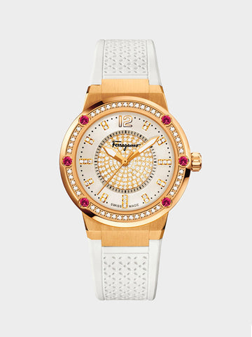 Women's Gold Plated Watch with Rubies