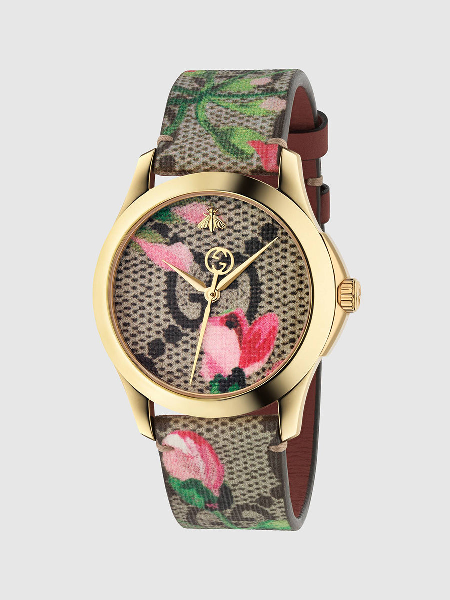 Women's Stylish Classic Logo Bee Floral Watch